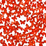Mariposas rojas inconsútiles Imagenes de archivo