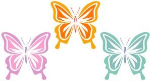 Mariposas (vector) Imágenes de archivo libres de regalías