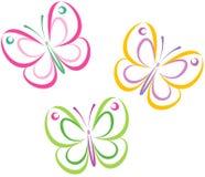 Mariposas (vector) Fotografía de archivo libre de regalías