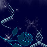 Mariposas y chispas hermosas del cielo de la noche Imagen de archivo libre de regalías