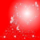 Mariposas y corazón Imágenes de archivo libres de regalías