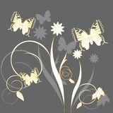 Mariposas y flores libre illustration