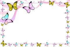 Mariposas y líneas Fotografía de archivo libre de regalías