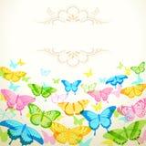Diseño de la mariposa Fotos de archivo