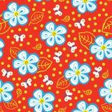 Mariposas y margaritas Imagen de archivo libre de regalías