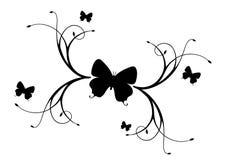 Mariposas y ramificaciones. Foto de archivo libre de regalías