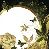 Mariposas y una rosa Fotos de archivo libres de regalías