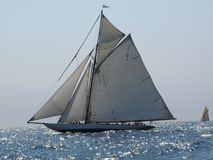 Mariquita. Classic sailing yacht in regatta Royalty Free Stock Photography