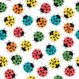 Mariquitas en los colores modelo inconsútil, ejemplo abstracto del arte del vector de la textura stock de ilustración