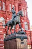 Mariscal Georgy Konstantinovich Zhukov Statue Imágenes de archivo libres de regalías