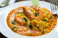 marisco do estilo do arroz espanhol Fotografia de Stock