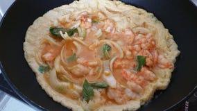 Marisco e omeleta Imagem de Stock Royalty Free