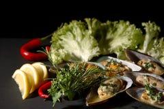 Marisco e vegetais imagem de stock royalty free