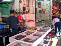 Marisco em um mercado molhado em Mong Kok, Hong Kong Fotos de Stock Royalty Free