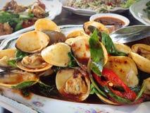 Marisco fritado dos moluscos Foto de Stock Royalty Free