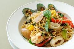 Marisco Khi Mao dos espaguetes imagem de stock