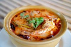 Marisco misturado de Tom yum, marisco misturado picante fotografia de stock