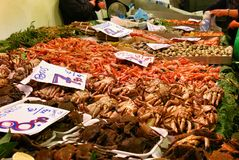 Marisco no mercado Fotografia de Stock