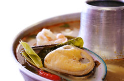 Marisco Tom Yum foto de stock royalty free