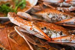 Mariscos cocidos del cangrejo del mar Foto de archivo