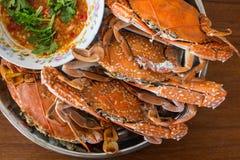 Mariscos cocidos del cangrejo del mar Foto de archivo libre de regalías