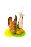 Mariscos del aperitivo. Fotos de archivo