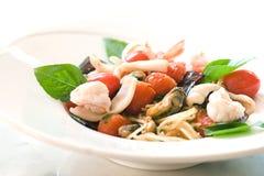 Mariscos del espagueti Foto de archivo