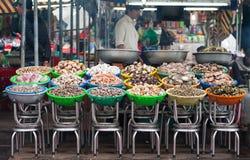Mariscos en el mercado de la comida Fotografía de archivo libre de regalías