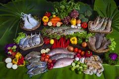Mariscos en la exhibición en el mercado de pescados foto de archivo libre de regalías