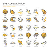 Mariscos, icono perfecto del pixel libre illustration