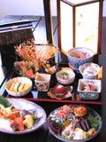 Mariscos japoneses deliciosos Foto de archivo libre de regalías