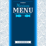 Mariscos Menu - Seafood Menu spanish text Royalty Free Stock Image