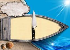 Mariscos - plantilla del menú Imágenes de archivo libres de regalías