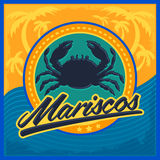 Mariscos - seafood spanish text Stock Image