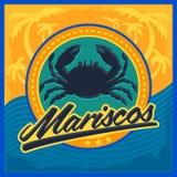 Mariscos - texte d'Espagnol de fruits de mer illustration stock