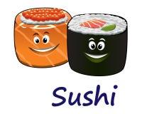 Mariscos y sushi japoneses Imagen de archivo