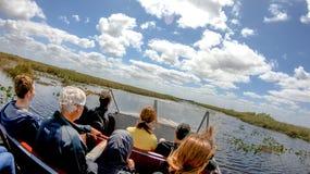 MARISMAS, FL - EM ABRIL DE 2018: Os turistas visitam o parque nacional no Fotografia de Stock Royalty Free
