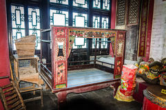 The marital bed. China's guangdong area the couple married in the marital bed Royalty Free Stock Photography