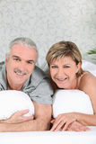 Marital bliss. Married couple enjoying peace and quiet Stock Photos
