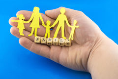 Marital happiness symbol. On the background of hands Stock Images