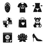 Marital partner icons set, simple style. Marital partner icons set. Simple set of 9 marital partner vector icons for web isolated on white background Royalty Free Stock Images
