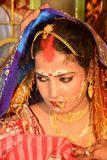 Marital Status. A beautiful Bengali woman after the vermilion applied Stock Photography