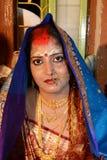 Marital Status. A beautiful Bengali woman after the vermilion applied Stock Photos
