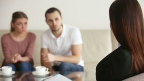 Marital therapy session stock footage