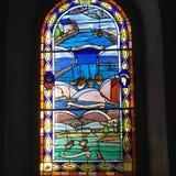 Maritiem gebrandschilderd glas Royalty-vrije Stock Afbeelding