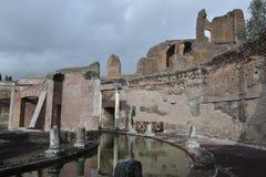 Maritiem theater, de Villa van Hadrian ` s, Tivoli, Italië, 26 November, Royalty-vrije Stock Afbeeldingen