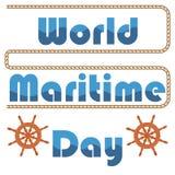 Maritim dagvektor för värld Vektor Illustrationer