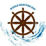 Maritim dagvektor för värld royaltyfri illustrationer
