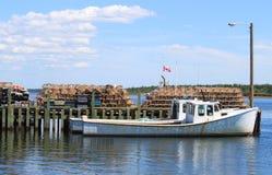 Maritim fiskebåt Arkivbilder