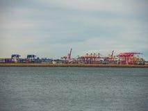 Maritim handel för uppförande som behandlar funktioner i hamnar och, som behandlar sändnings för Australien ` s royaltyfria foton
